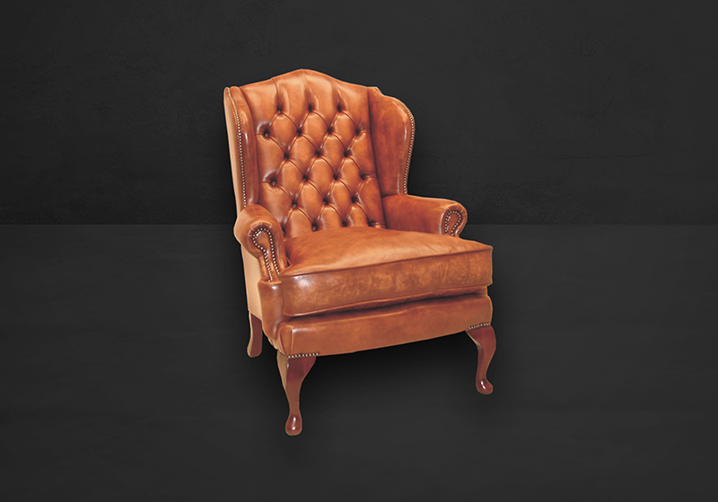 Queen Anne Wing Sessel British Furniture Collection